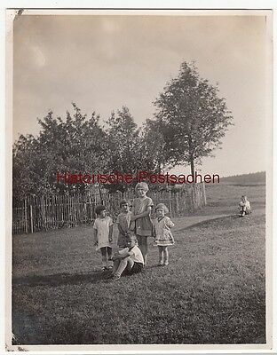 (F12695) Orig. Foto Gehlberg / Thür. 1930, Kinder aus dem Ort, Spielkameraden