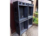 Vintage Carlsbro PA Speakers 1200W