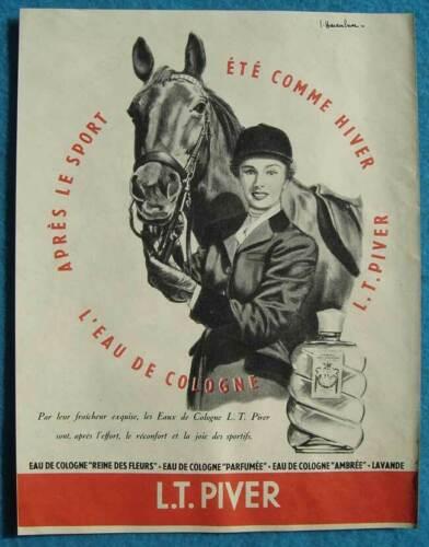 Publicité Papier - Eau de Cologne De L.T. Piver de 1955
