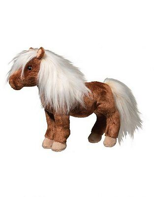 "Douglas Tiny Shetland Pony Horse Stuffed Animal 9"" Plush Toy Brown Cuddle"