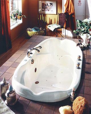 NEPTUNE ELYSEE 70 x 40 WHITE ACRYLIC OVAL DROP IN BATH TUB SOAKER (NO WHIRLPOOL) ()