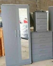 💯💯MASSIVE SAVINGSASSEMBLED WARDROBE, MATCHING CHEST OF DRAWERS, BEDSIDE TABLES AVAILABLE ALSO.