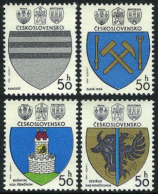 Czechoslovakia 2297-2300, MNH. Coat of Arms of Czechoslovak towns, 1980