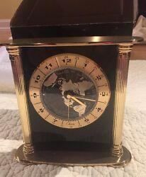 Chass Solid Brass World Desk Clock New Inbox Model 72532