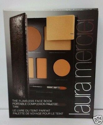 New Boxed Laura Mercier The Flawless Face Book Portable Complexion Palette Tan