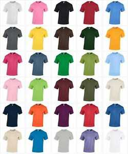 NEW-KIDS-GIRLS-BOYS-CHILDRENS-31-COLOURS-PLAIN-HEAVY-GILDAN-T-SHIRT-AGE-3-13