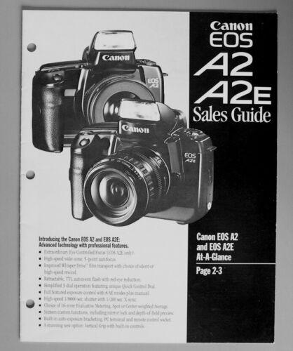 Canon EOS A2 A2E Sales Guide Technical Booklet 1992 Original