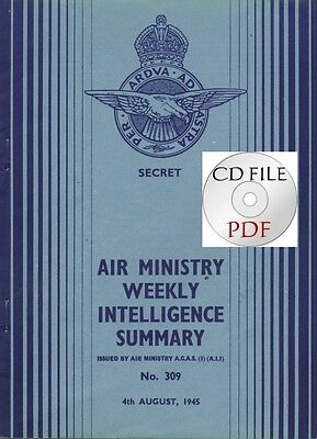 CDFile Air Ministry Weekly Intelligence Summary 1945 8 JAF Suicide Tactics Me262