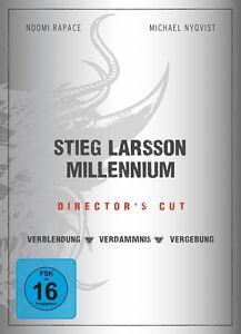 3 DVD Box * Stieg Larsson - Verblendung + Verdammnis + Vergebung * DC * NEU OVP