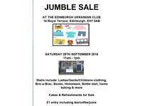 Jumble Sale, Sat 29th Sept 11am - 1pm