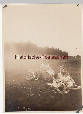 (F12688) Orig. Foto Familienausflug v. Gehlberg nach d. Fichtelberg 1929, Rast