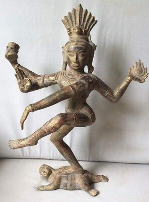 Superb Figure Dieu Shiva Nataraja Cosmic Dance Bronze Khmer Cambodia Asia