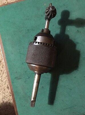 Jacobs No.3 12 Drill Chuck Morse Taper 1 Mt Craftsman Atlas Metal Lathe Taig