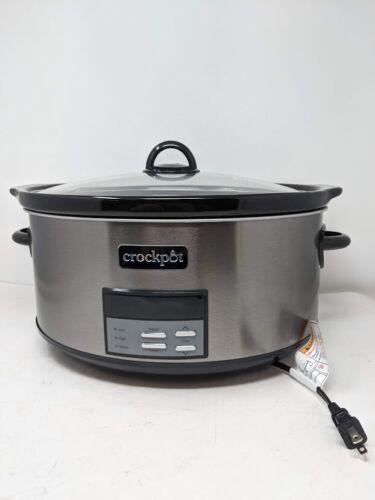 Crock Pot Slow Cooker 8 Quart Programmable Slow Cooker with Digital Countdown