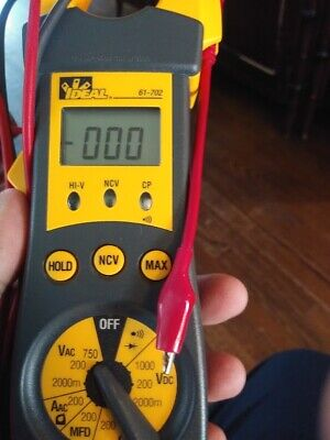 Ideal 4 In 1 Clamp Meter Multimeter Electrical Test Tool 61-702 Leads Carry Case