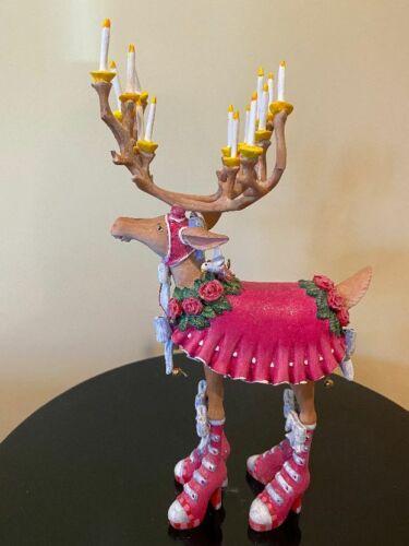 "Mackenzie-Childs Patience Brewster Krinkles Dashaway Donna 12"" Reindeer- Used"