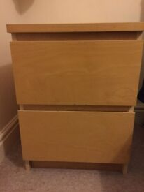 Pair of Light coloured IKEA bedside tables