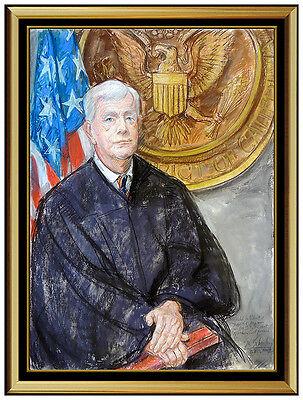 Sheldon SC Schoneberg Large Original Pastel Painting Signed Portrait Artwork SBO