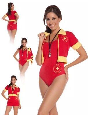 Women's Beach Patrol Lifeguard Costume Baywatch Swimsuit #9610 Medium (Lifeguard Costume Women)