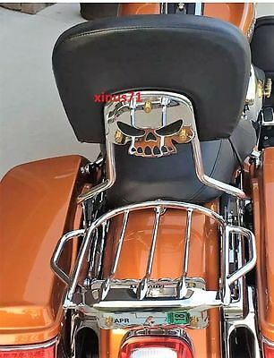 NEW DESIGN Detachable Airwing Two Up Luggage Rack for Harley 09-18 Touring MODEL