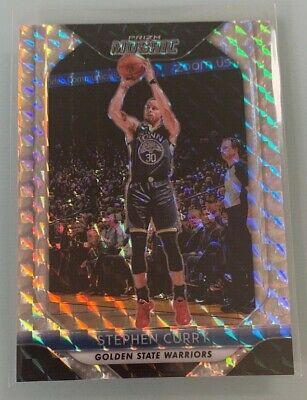 STEPHEN CURRY 2018-19 PANINI MOSAIC SILVER PRIZM REFRACTOR #90 WARRIORS
