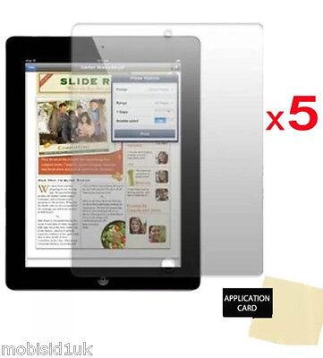 5 x Ultra Clear HD LCD Screen Protector Guard for Apple iPad 2,3,4 (Ipad 4 Screen Protector)
