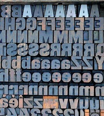 Letterpress Wood Printing Blocks 199 Pcs 0.71 Tall Alphabet Type Woodtype Abc