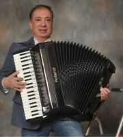 One man band,  accordion  player for hire