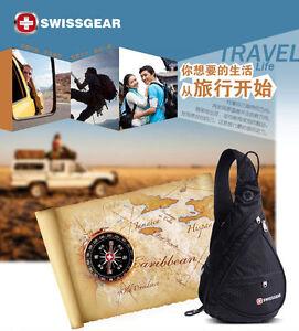 New SwissGear N96Black Cross body sling bag Shoulder Bag/Backpack/Pouch bag+Gift