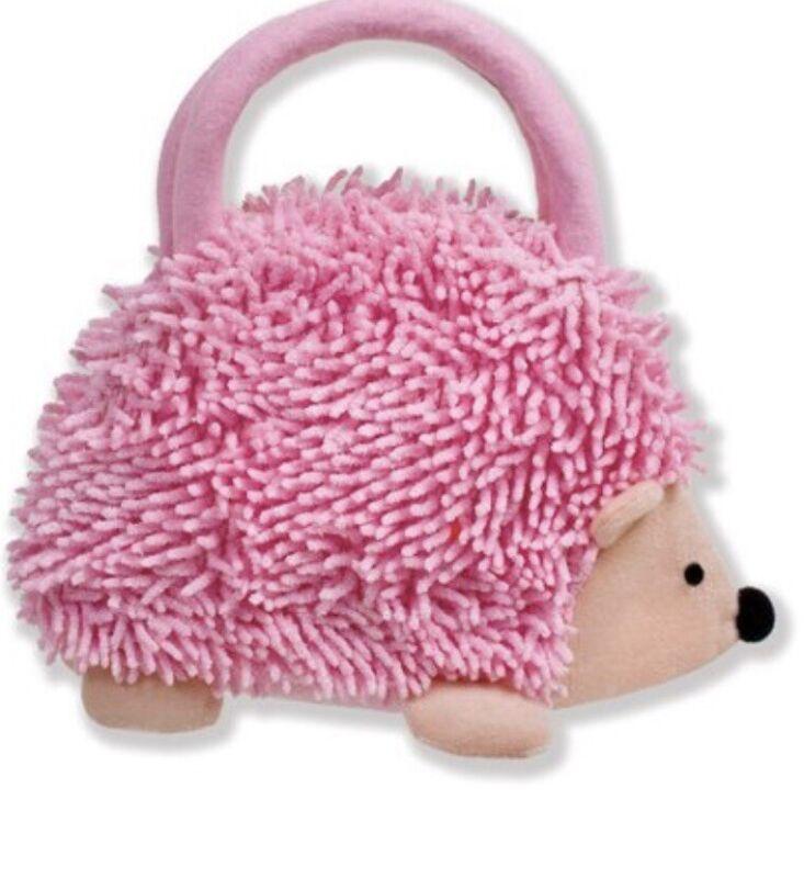 NEW & PERFECT GIFT HEDGEHOG PURSE ~ North American Bear Pink. So Cute!