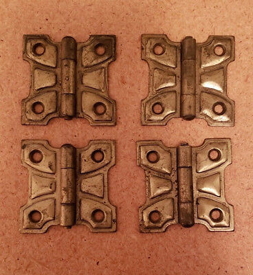 NICE SET OF 4 MATCHING ANTIQUE HINGES 2 X 2