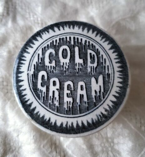 Antique Ironstone Cold Cream Jar