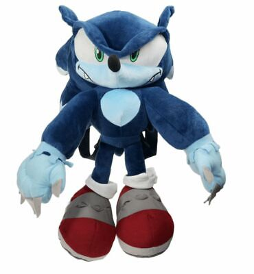Sonic the Hedgehog Werehog Sonic Plush Backpack Doll Bag Costume 15in. Xmas Gift