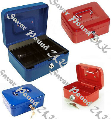 SAFE SECURITY STEEL METAL PETTY METAL MONEY BANK DEPOSIT CASH BOX TRAY HOLDER