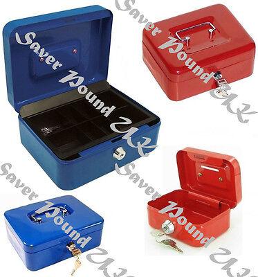 SAFE SECURITY STEEL METAL PETTY METAL MONEY BANK DEPOSIT CASH BOX TRAY HOLDER