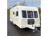 2012 Bailey Olympus 534 4 berth with fixed bed with new air awning and motor mover