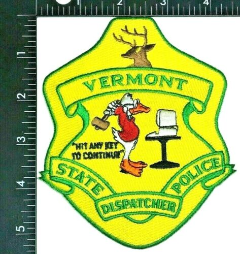 VERMONT STATE POLICE DISPATCHER PATCH (PD 3)