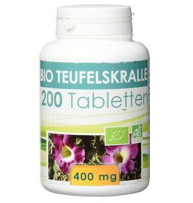 400 Mg Nahrungsergänzungsmittel Tabletten (Bio Teufelskralle (Harpagophytum procumbens) 400mg - 200 Tabletten)