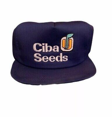 Vintage CIBA Seeds Corn Snapback Patch Hat. Trucker cap. Swingster USA.