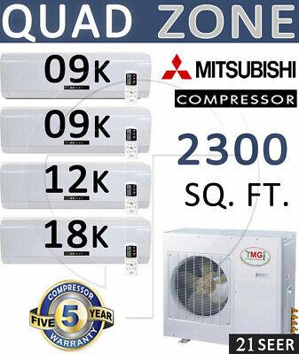 48,000 BTU Ductless Mini Split AC 16 SEER Efficiency w/ 9000