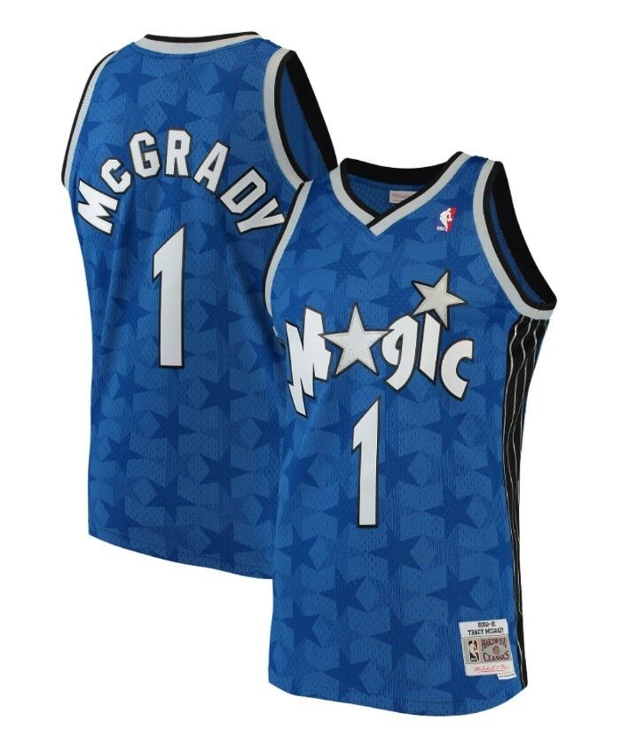 pretty cheap outlet store lowest price Tracy McGardy #1 Orlando Magic Mitchell Ness Mesh NBA Throwback ...