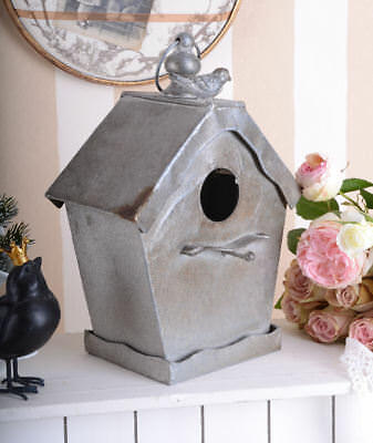 BIRD HOUSE NESTING BOX GARDEN ACCESSORY METAL