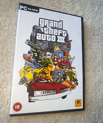 GRAND THEFT AUTO 3 GTA 3 III PC GAME WINDOWS CD-ROM 2002 for sale  Shipping to Nigeria