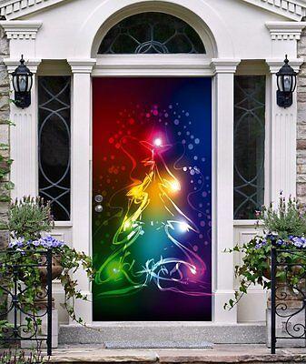 Best Front Door Cover Christmas Decor 3D Banner Holiday Decor for House (Best Cover For Holidays)