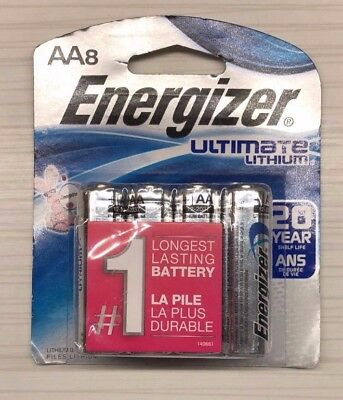 Energizer Ultimate Lithium AA Batteries L91BP-8 - 8 pack