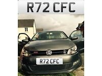 PRIVATE NUMBER PLATE R72 CFC