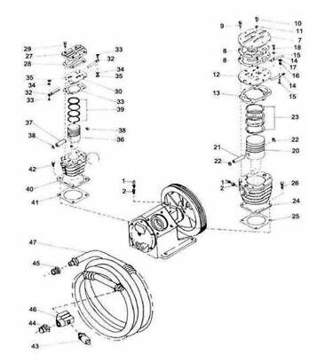 Ingersoll Rand Type 30 Model 253 Piston Air Complete Lp 32054389 Ref 20