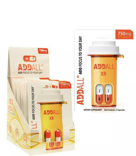 AddAll XR 750mg, Energy Focus Concentration, 5 Packs - 10 Capsules - FREE SHIP 1
