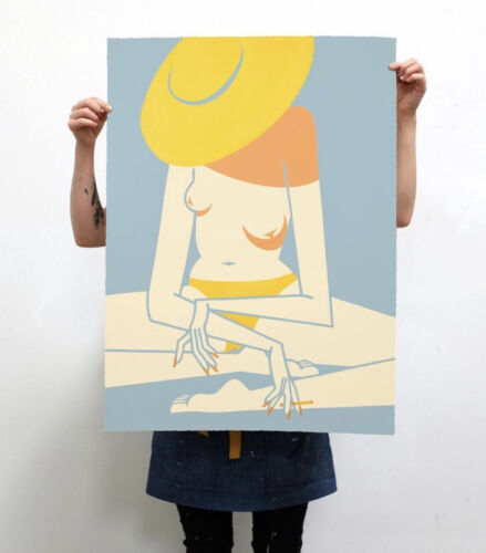 "Jillian Evelyn Sunbather Print 22""x36"" 4 Color ..."