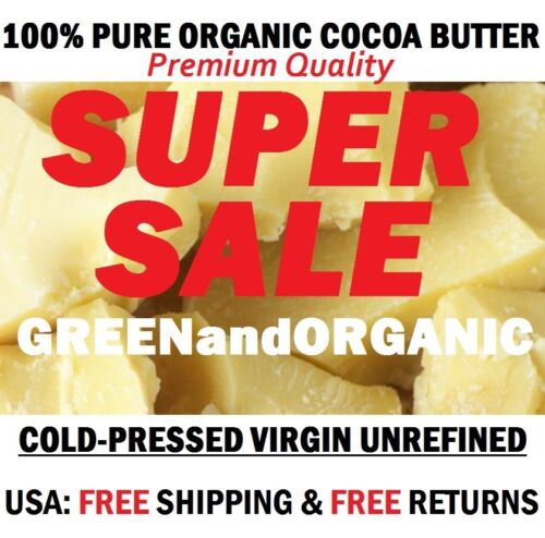 Raw PRIME Cocoa Butter 100% Fresh Natural From Ghana 1 Pound FREE Shipping 16 oz